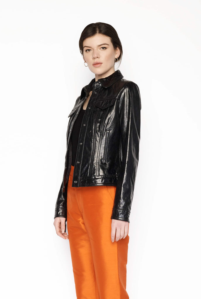 Big Fashion Sale Marc Cain Coated Leather Jacket