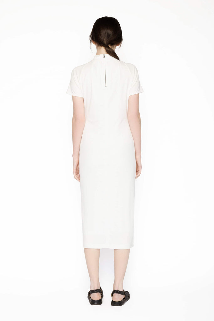 Big Fashion Sale Marc Cain Midi White knit dress short sleeve