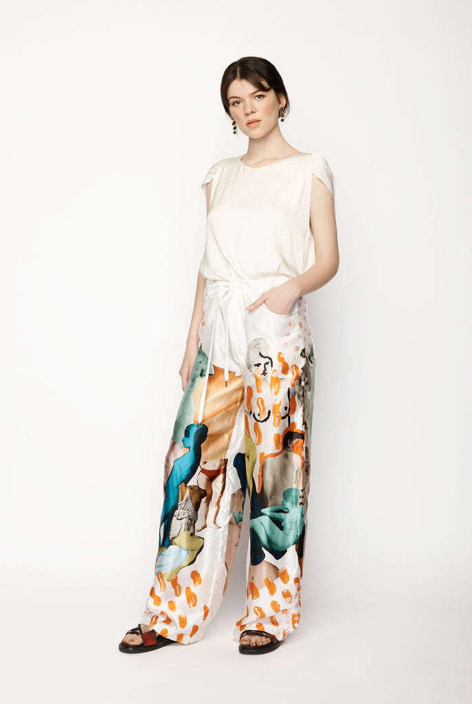 Marni - Silk 'Art' Pants