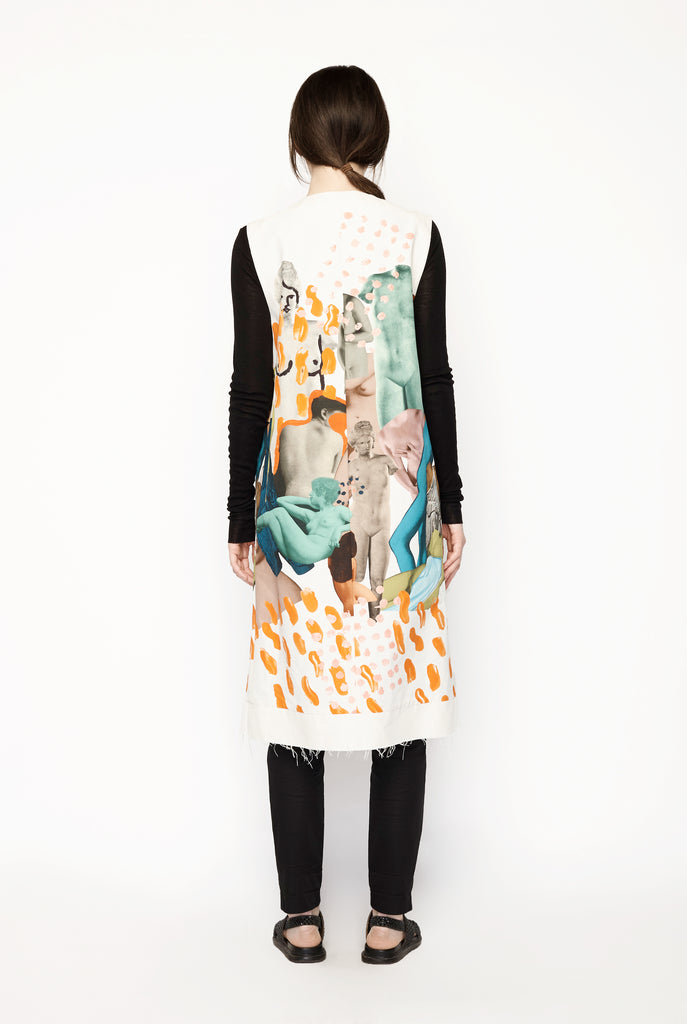 Marni - Sleeveless Art Coat