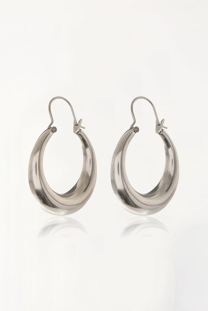 The Martina Tube Hoops - Silver