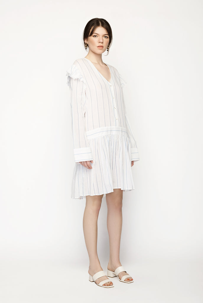 Matin - Ruffle Button Up Dress