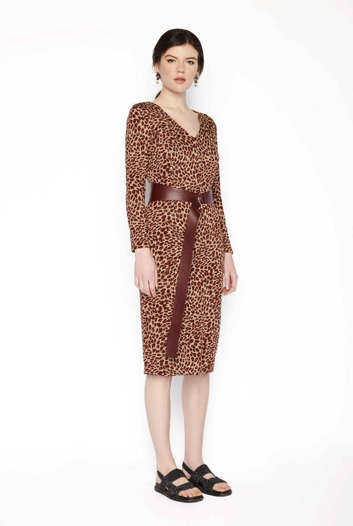 Big Fashion Sale Max Mara Animal Print Dress with Belt