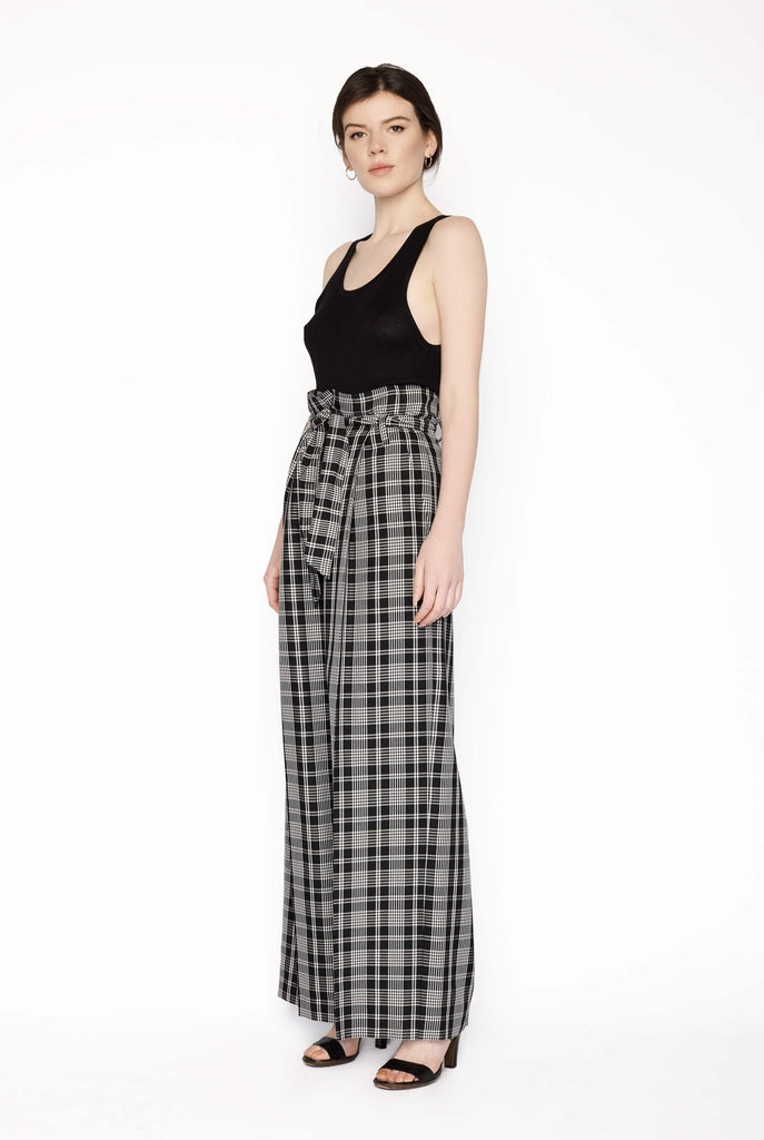 Big Fashion Sale Max Mara Cina Check Wide Leg Pant