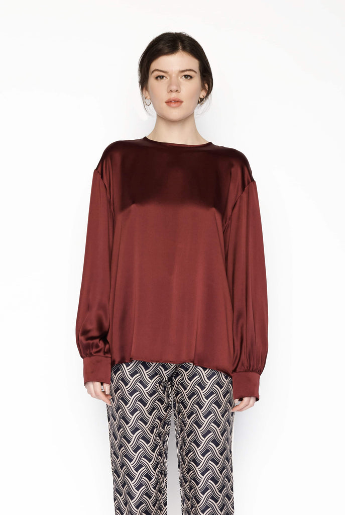 Big Fashion Sale Max Mara Studio Blouse Bourdeax