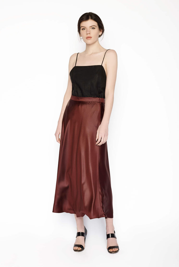 Big Fashion Sale Max Mara Studio Circle Full Skirt Bordeaux