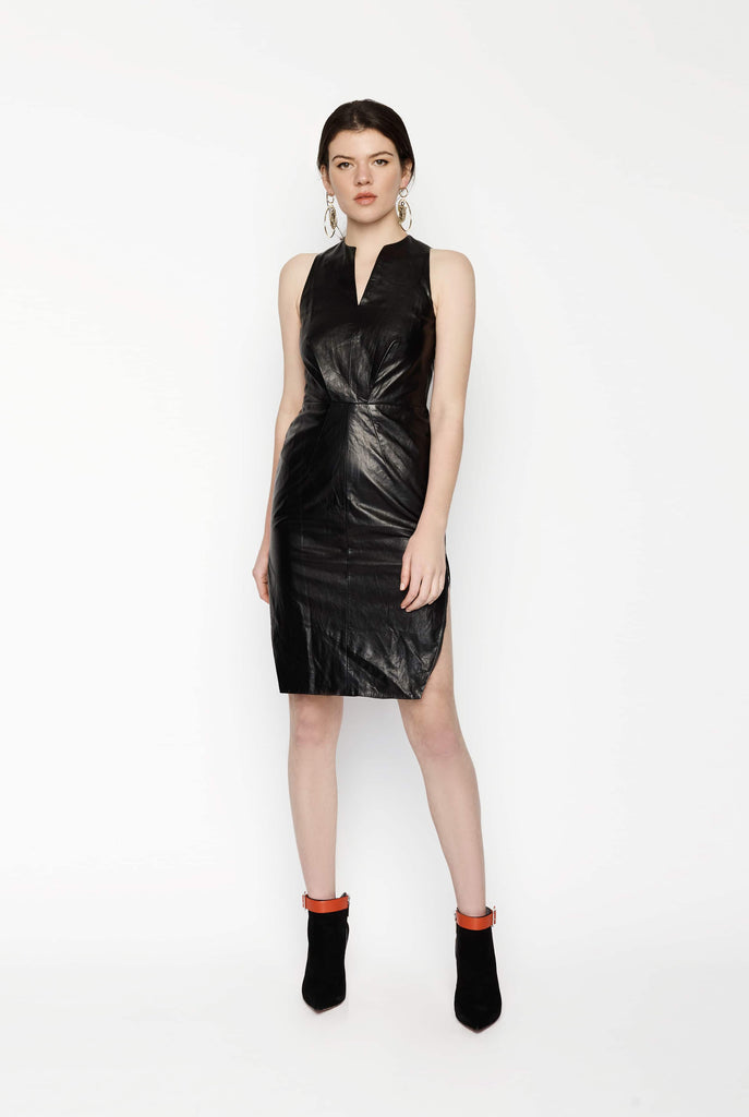 Big Fashion Sale Michael Lo Sordo Fitted Vegan Leather Dress