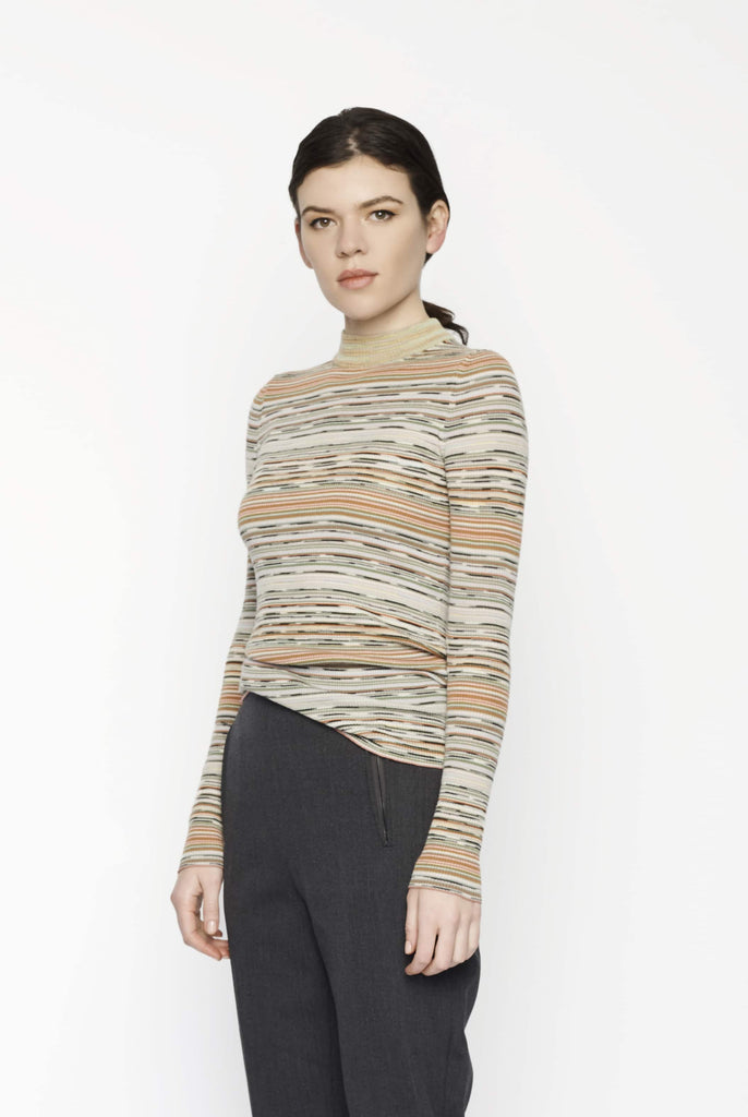 Big Fashion Sale Missoni Long Sleeve Mock Neck Stripe Knit
