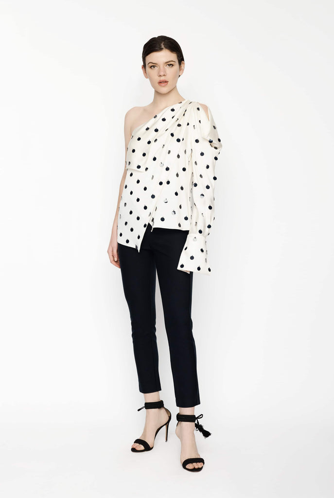 Big Fashion Sale Monse Asymmetric Embroidered Dot Top