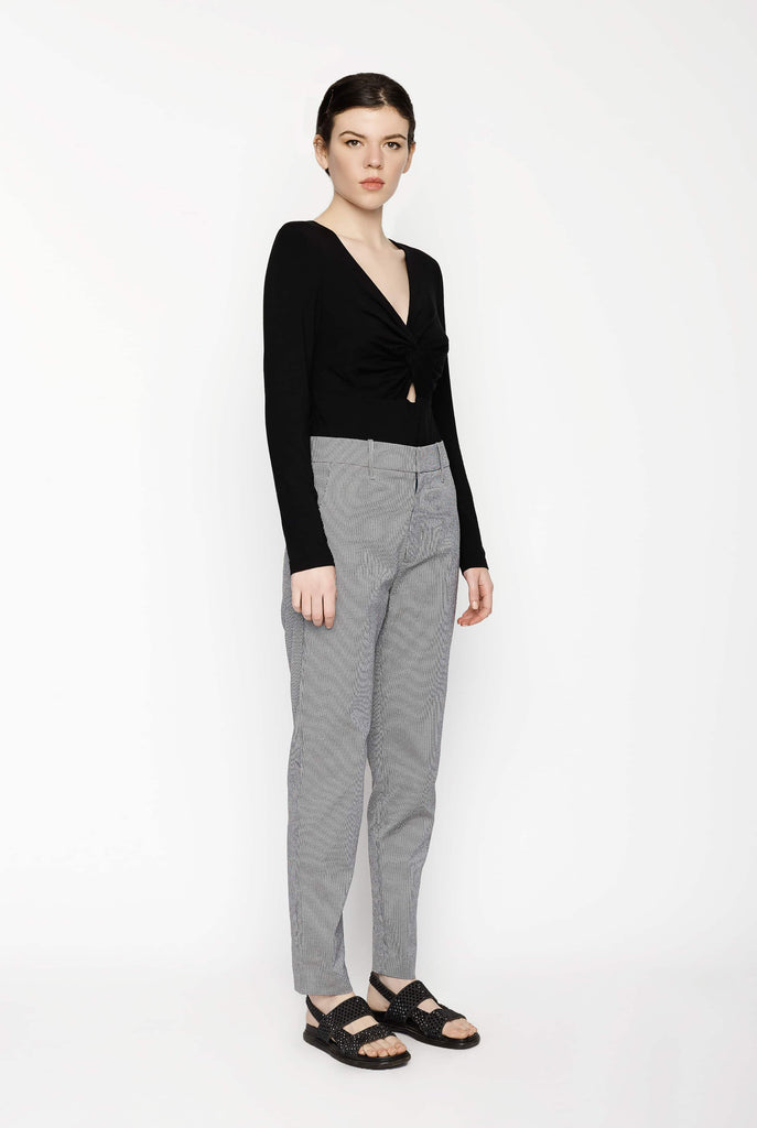 Big Fashion Sale Permanent Vacation Check Cigarette Trousers Grey