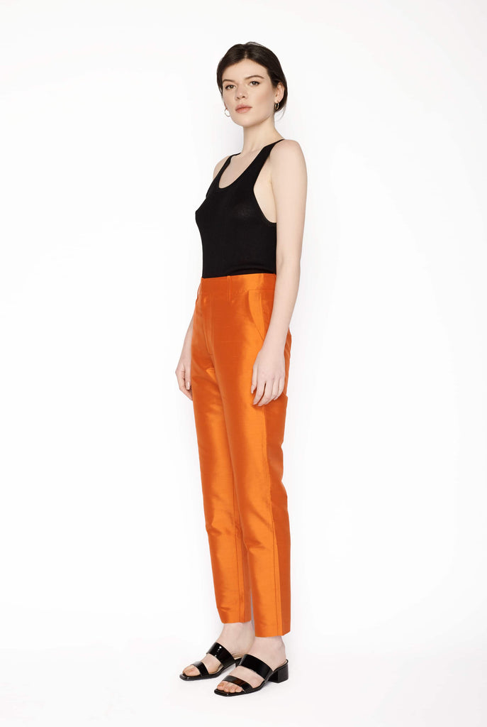 Big Fashion Sale Permanent Vacation Cigarette Trousers Tangerine