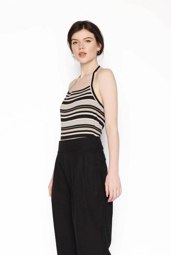 Big Fashion Sale Permanent Vacation Striped Halterneck