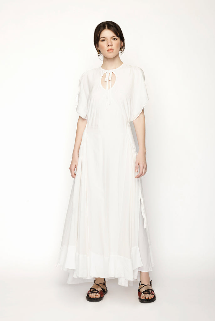 Cap Sleeve Maxi Dress With Ring Cutout