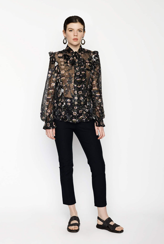 Big Fashion Sale Preen Floral Burn Out Blouse