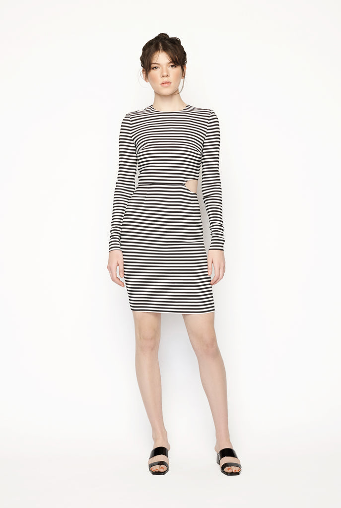 Preen - Stripe Print Dress