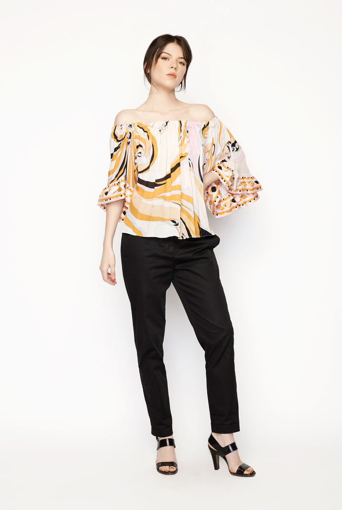 Pucci - Print Off-Shoulder Top