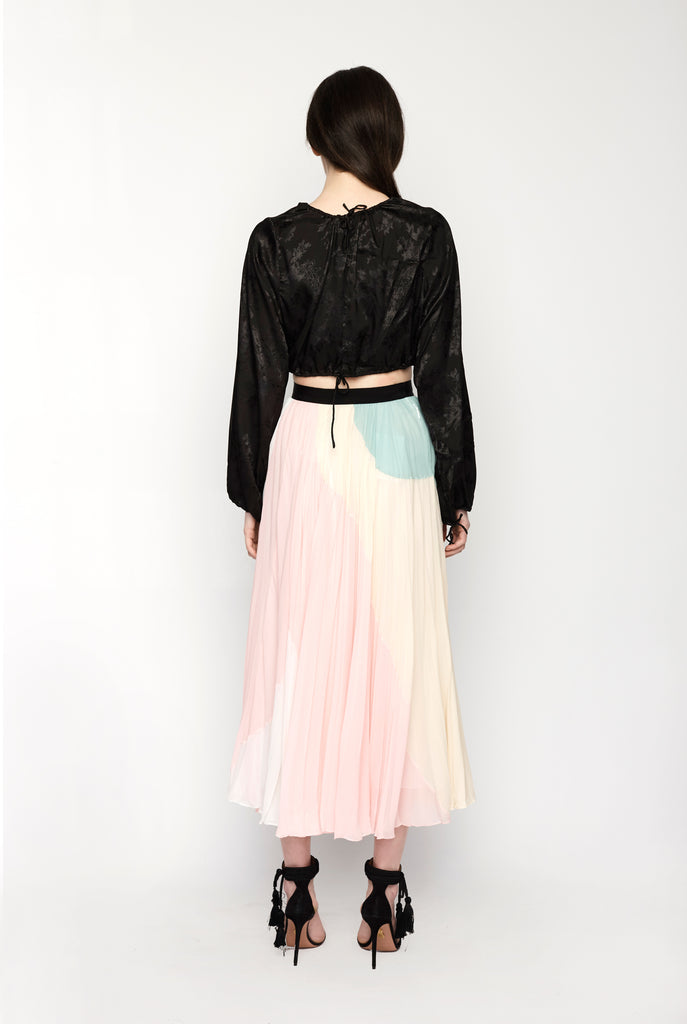 Pucci - Pleated Skirt Multi Coloured Pastel