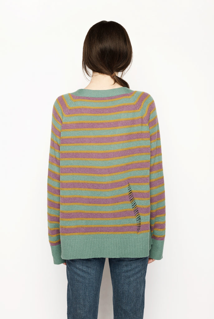 Stripe Laddered Cardigan