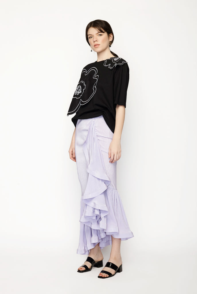 Romance Was Born - 17 Days Frill Skirt - Mauve