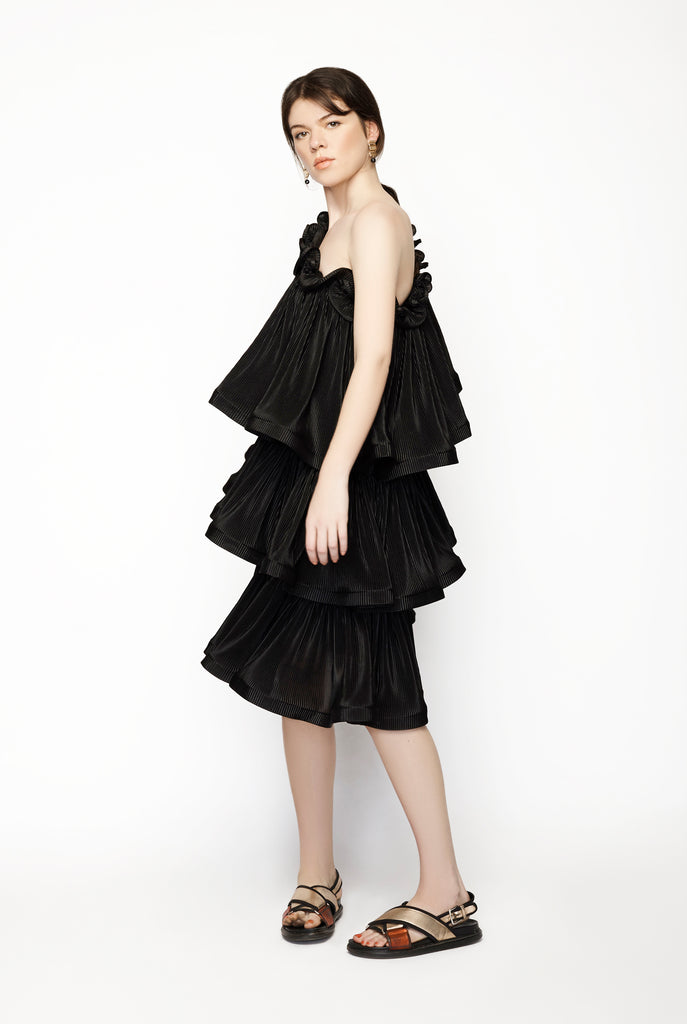 Bloom Pleat Tier Dress