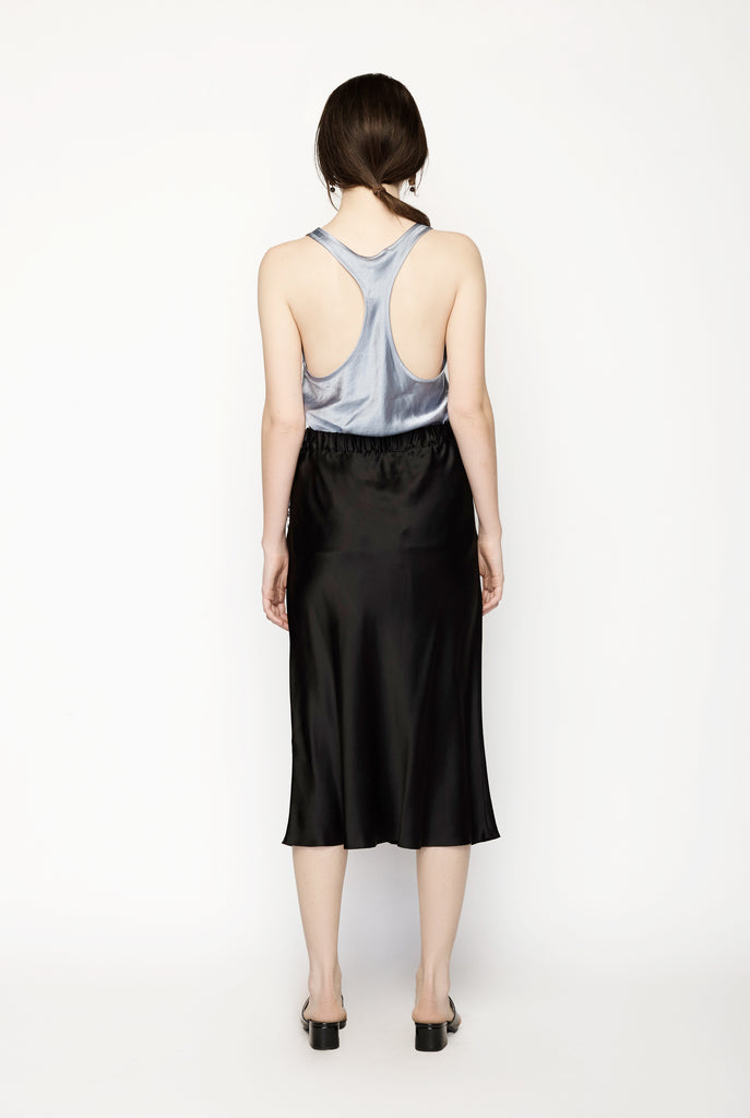 Romance Was Born - Diamonds Pearls Silk Bias Skirt