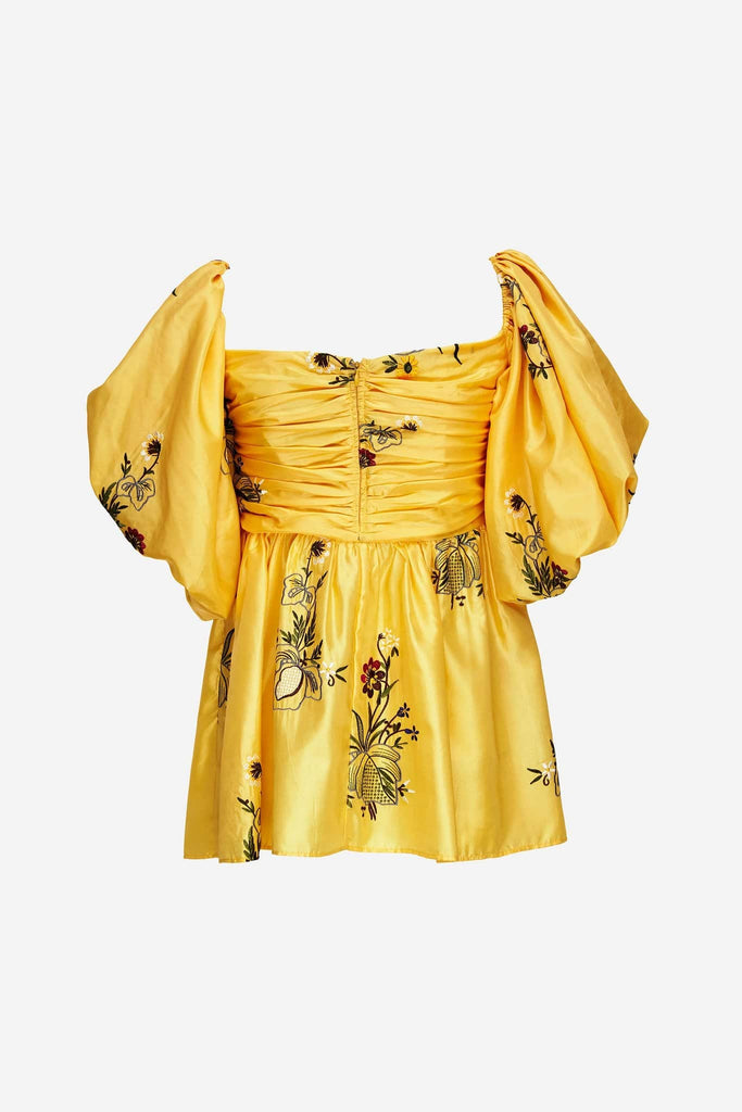 Big Fashion Sale Romance Was Born Queens Hamlet Bodice, Yellow