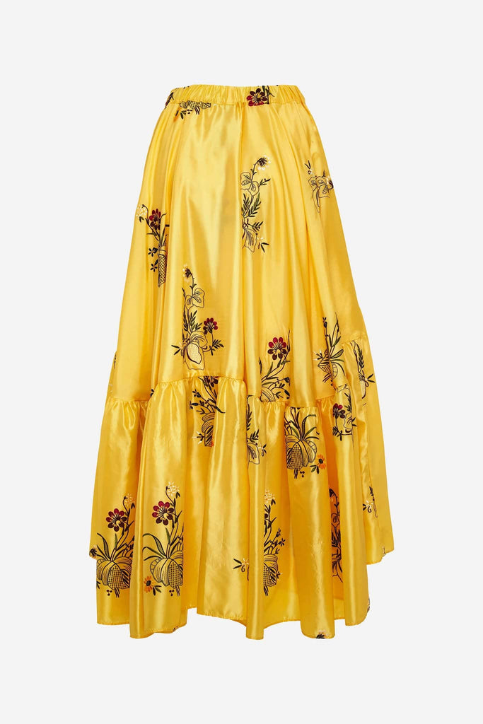 Big Fashion Sale Romance Was Born Queens Hamlet Tier Skirt, Yellow