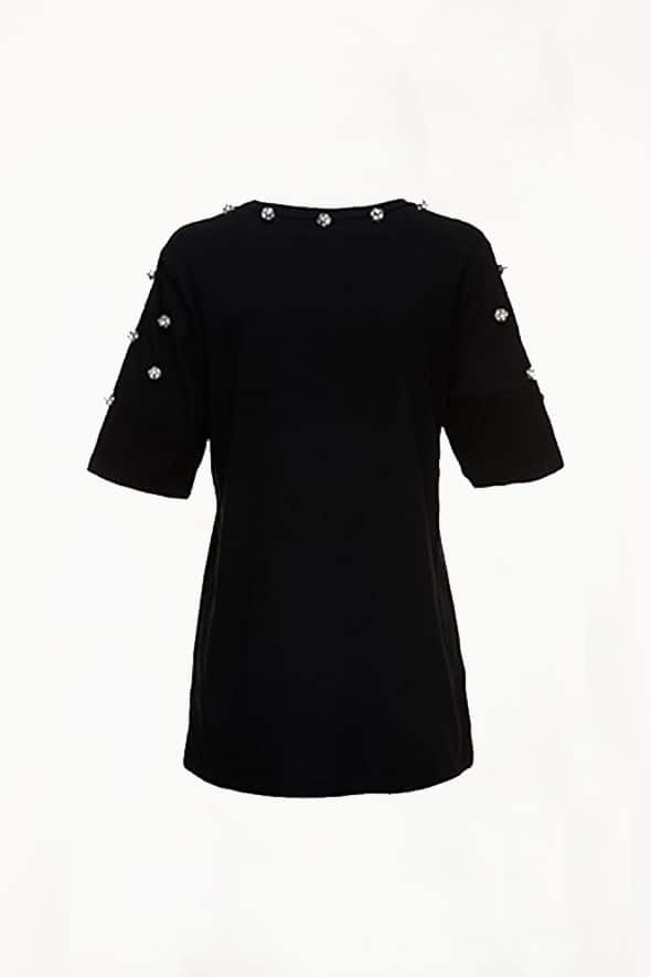 Big Fashion Sale Romance Was Born Regency Tee, Black Crystals