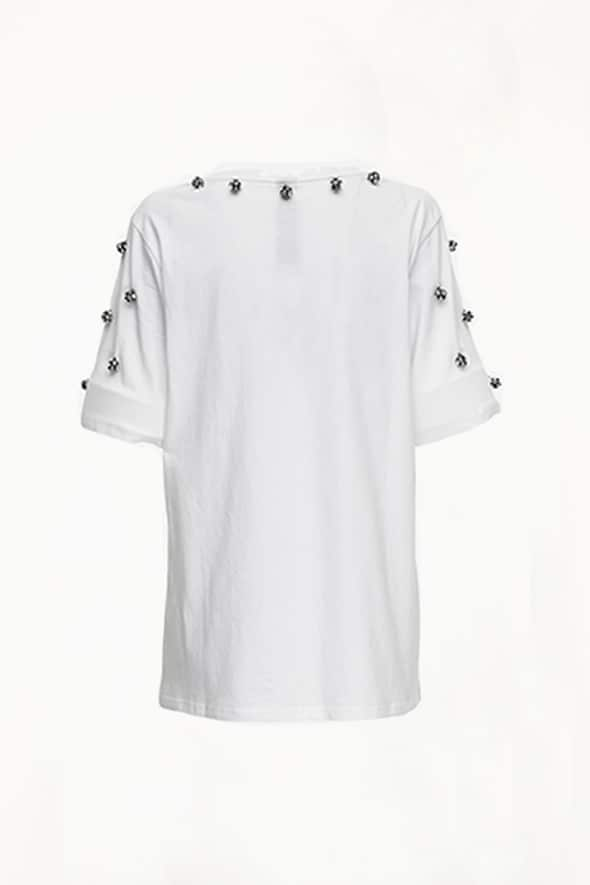 Big Fashion Sale Romance Was Born Regency Tee, White Crystals