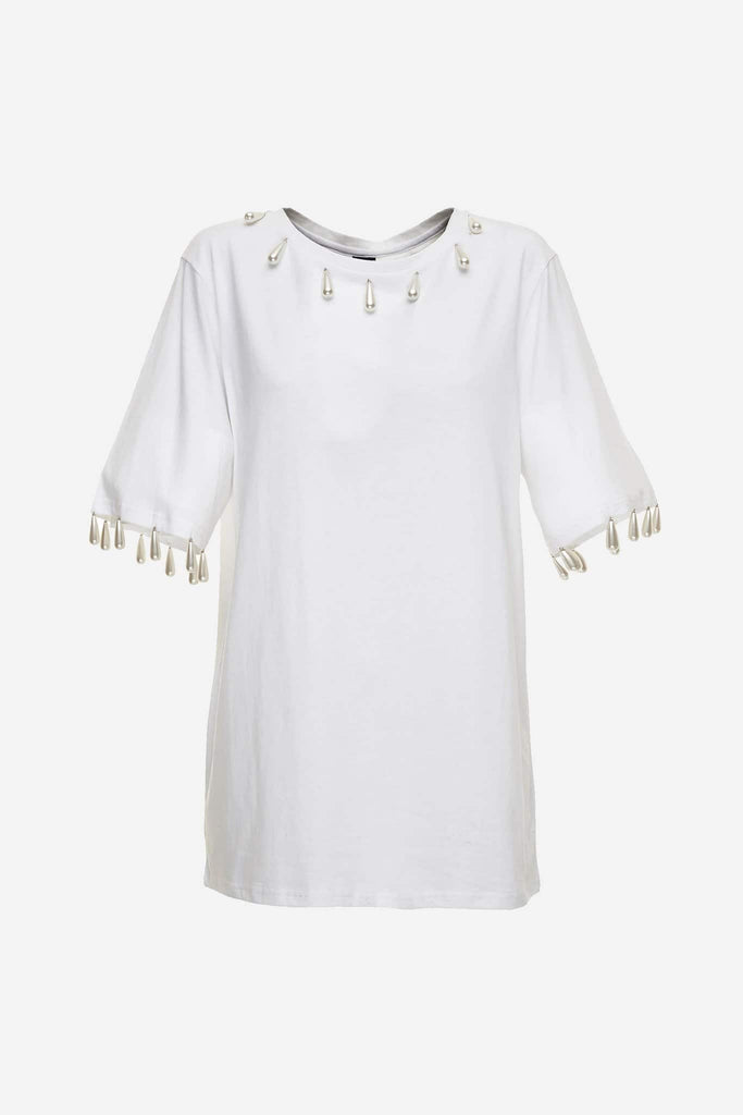 Big Fashion Sale Romance Was Born Regency Tee, White Pearls