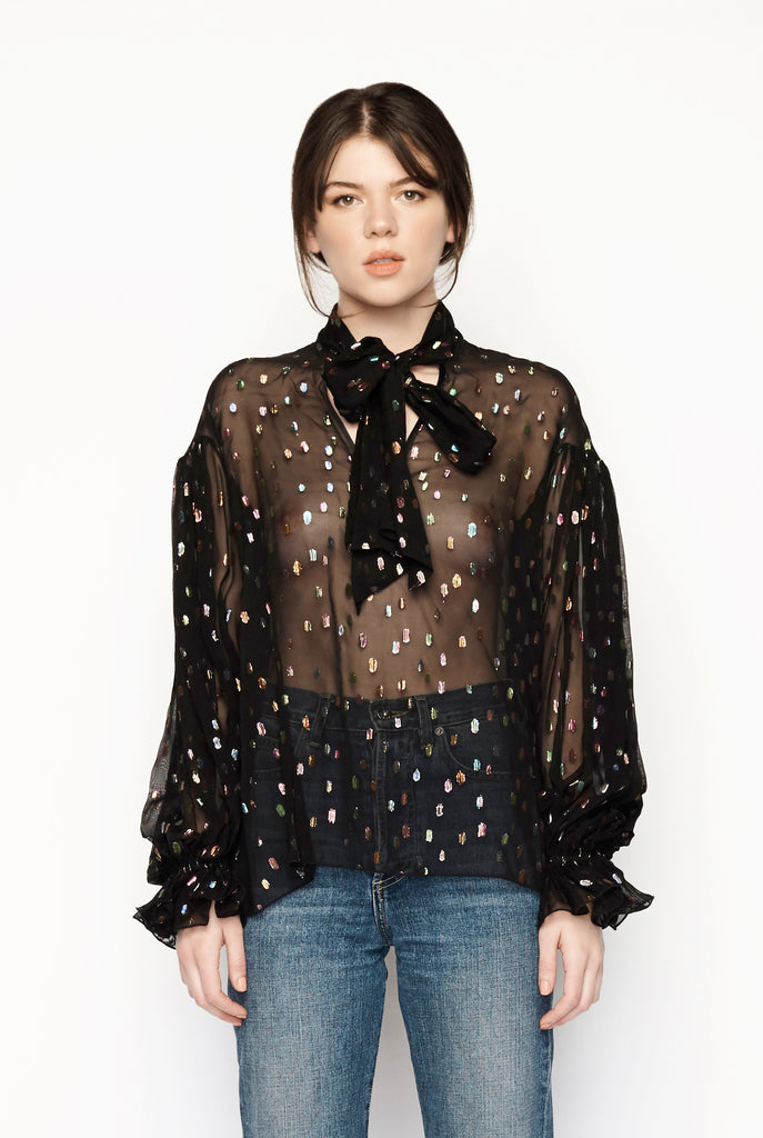 Romance Was Born - Supernova Spot Blouse