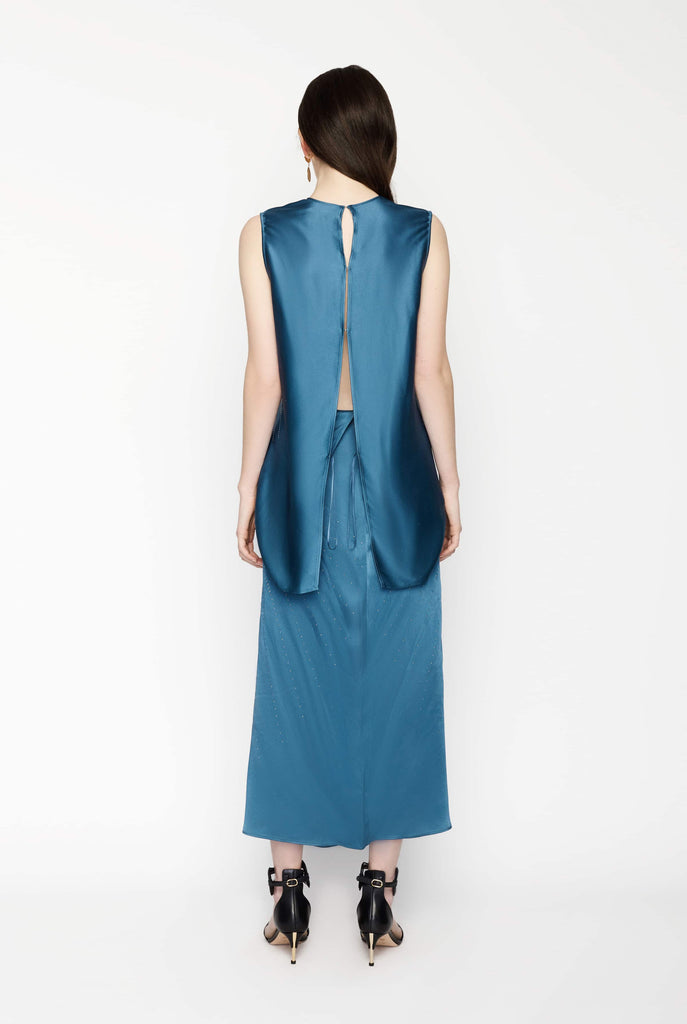 Big Fashion Sale Stella McCartney Blue Hot Fix Sleeveless Dress