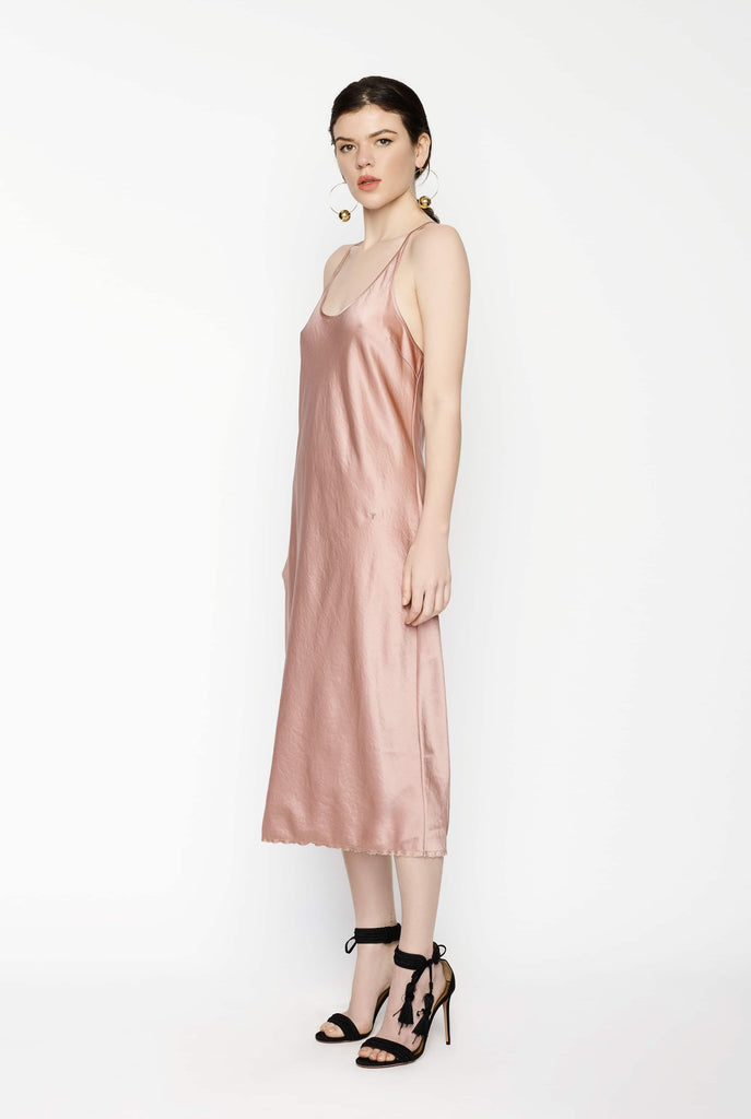 Big Fashion Sale T by Alexander Wang Racer Back Woven Slip Dress Guava