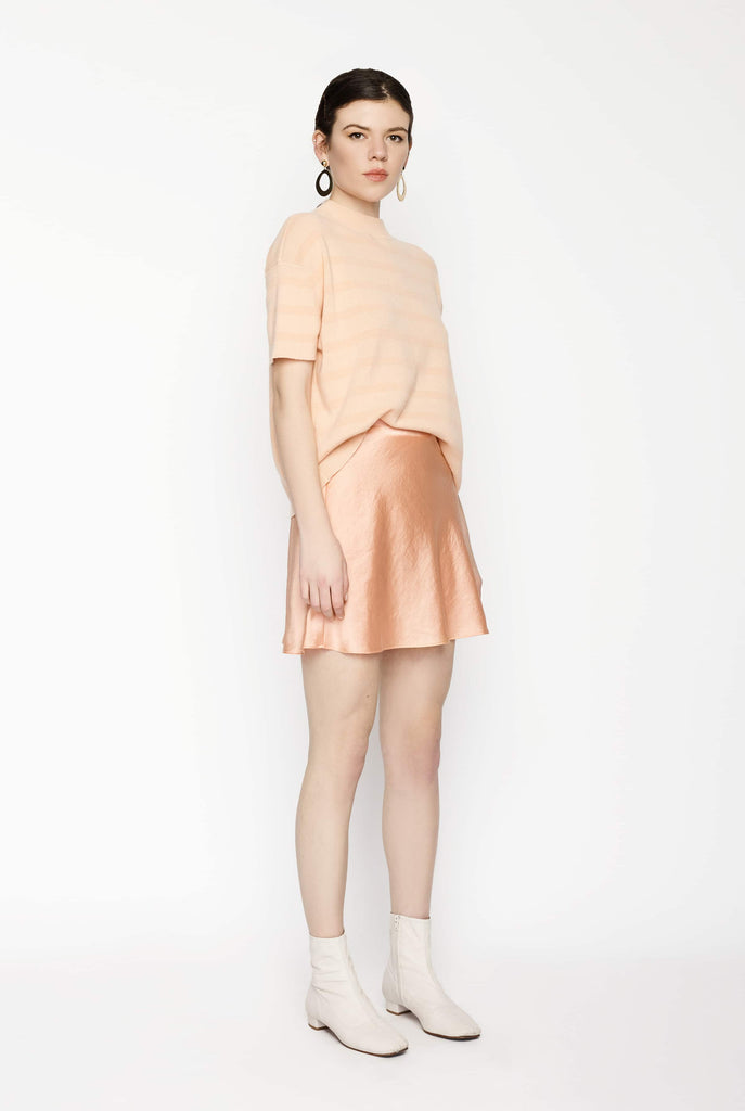 Big Fashion Sale T by Alexander Wang Wash & Go Pull On Mini Skirt Papaya