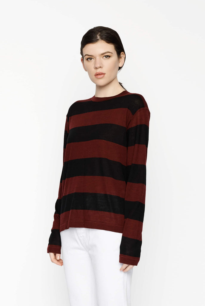 Big Fashion Sale T by Alexander Wang Wash & Go Rugby Stripe Long Sleeve Knit