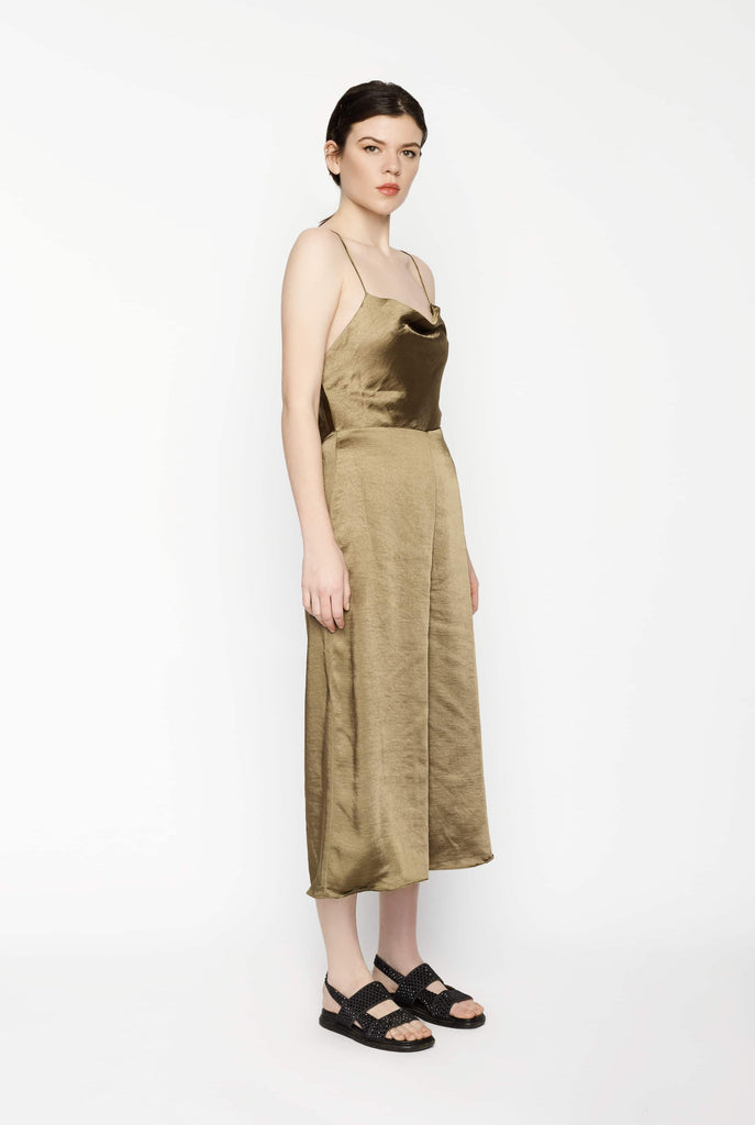 Big Fashion Sale Third Form Final Say Bias Jumpsuit Brass
