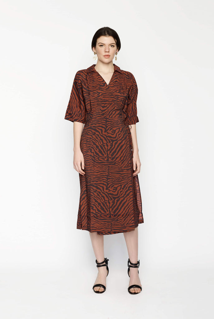 Big Fashion Sale Third Form Jungle Beats Wrap Dress