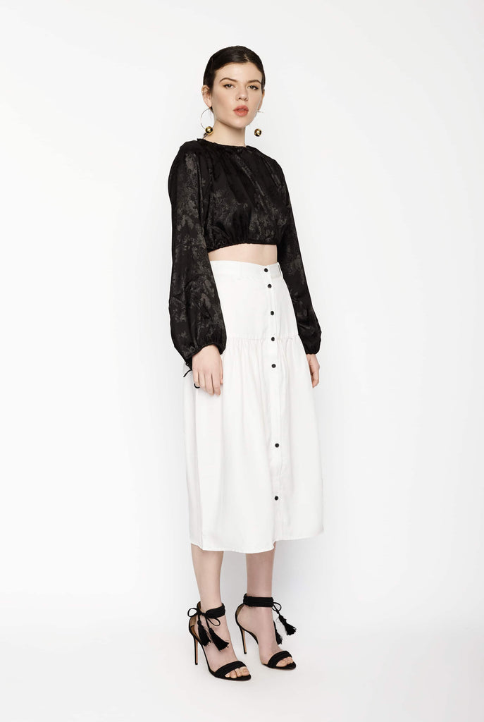Big Fashion Sale Third Form Vice Versa Midi Skirt Off White