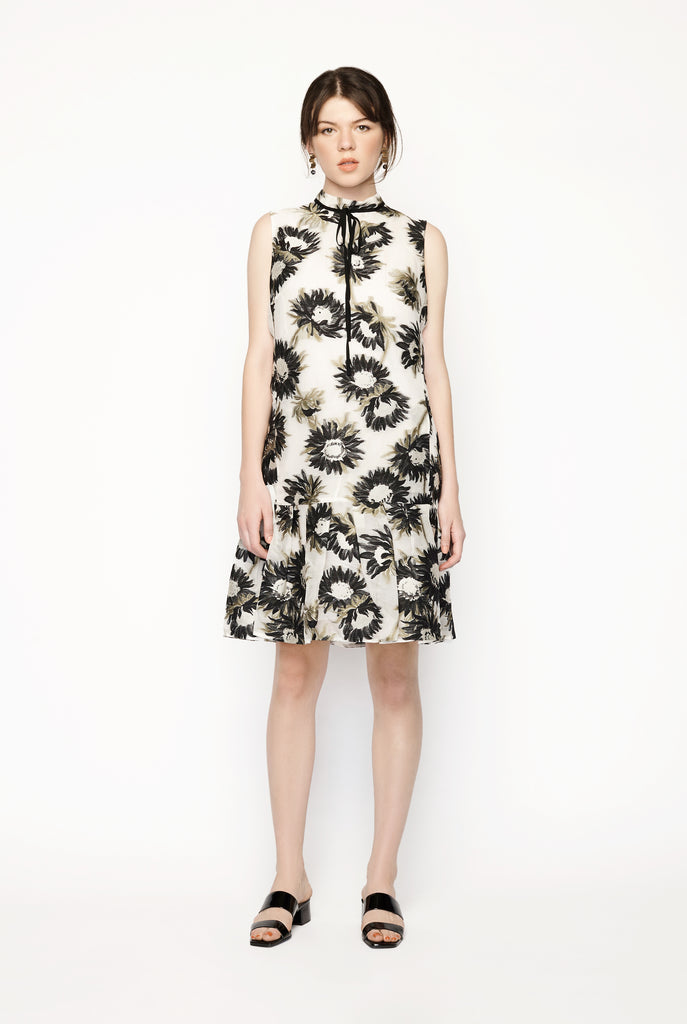 Erdem - Nena Ivory Organza Dress