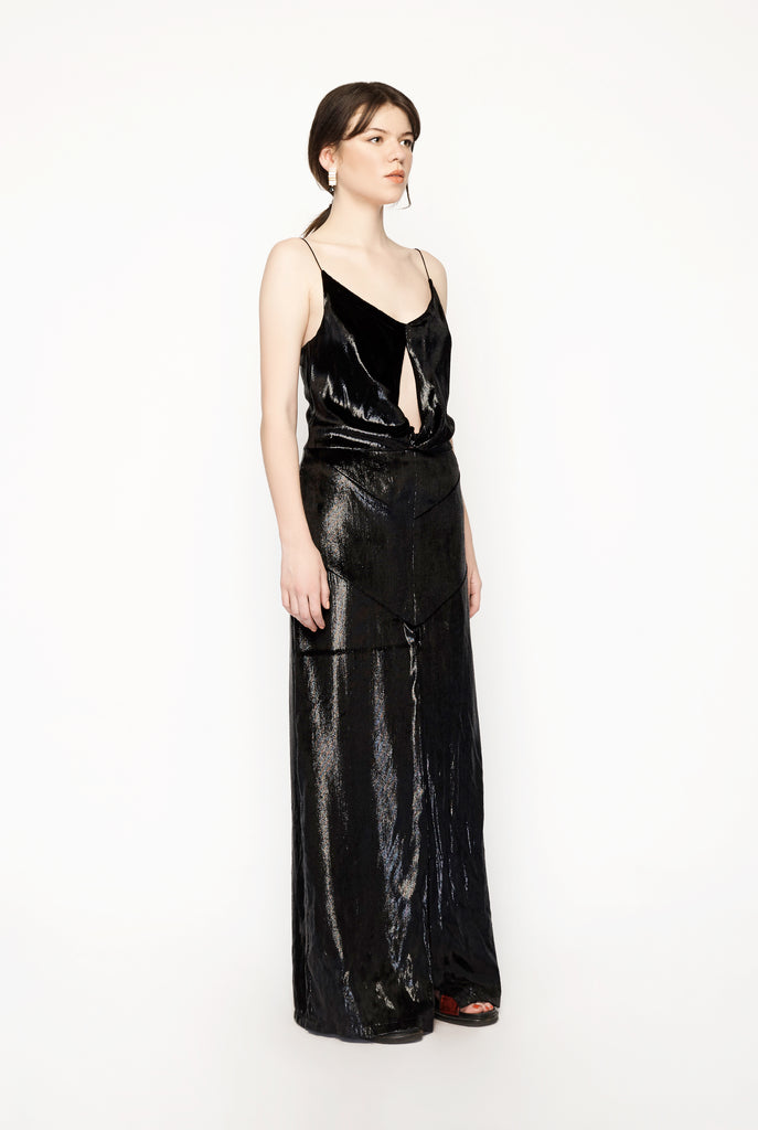 Michael Lo Sordo - Black Metallic Gown