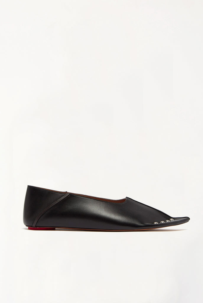 Marni - Leather Studded Slippers