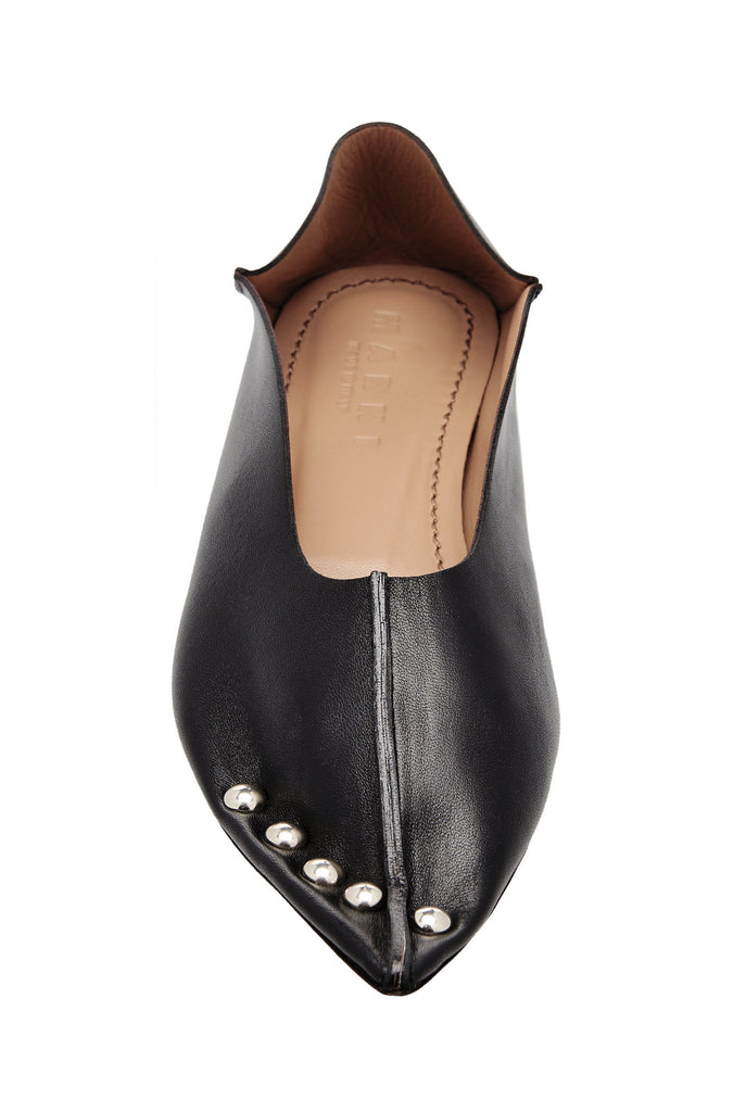 Leather Studded Slippers