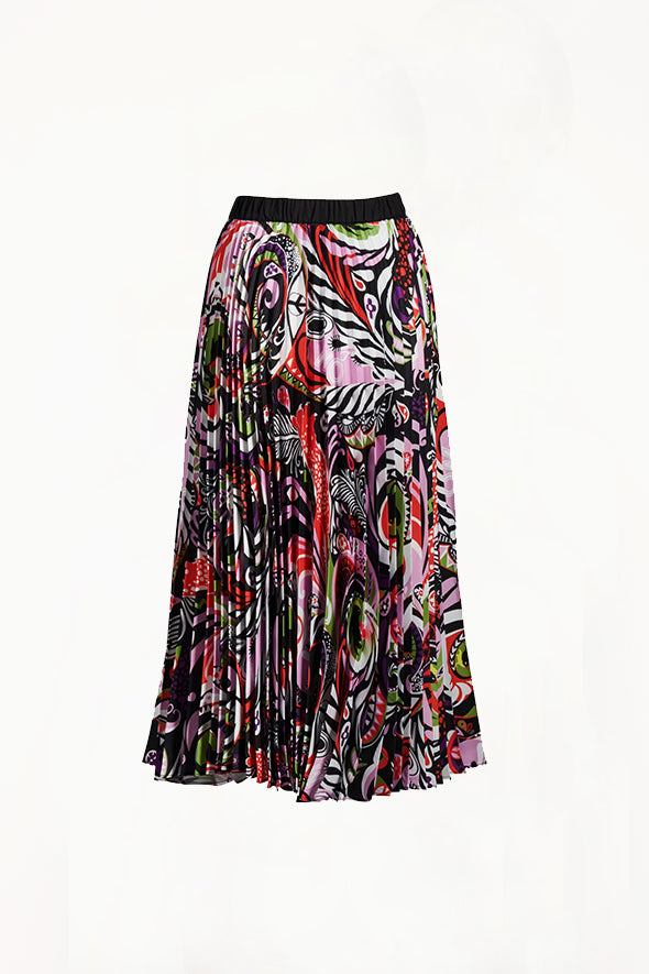 Romance Was Born - Pop Life Pleated Skirt, Purple/Multi