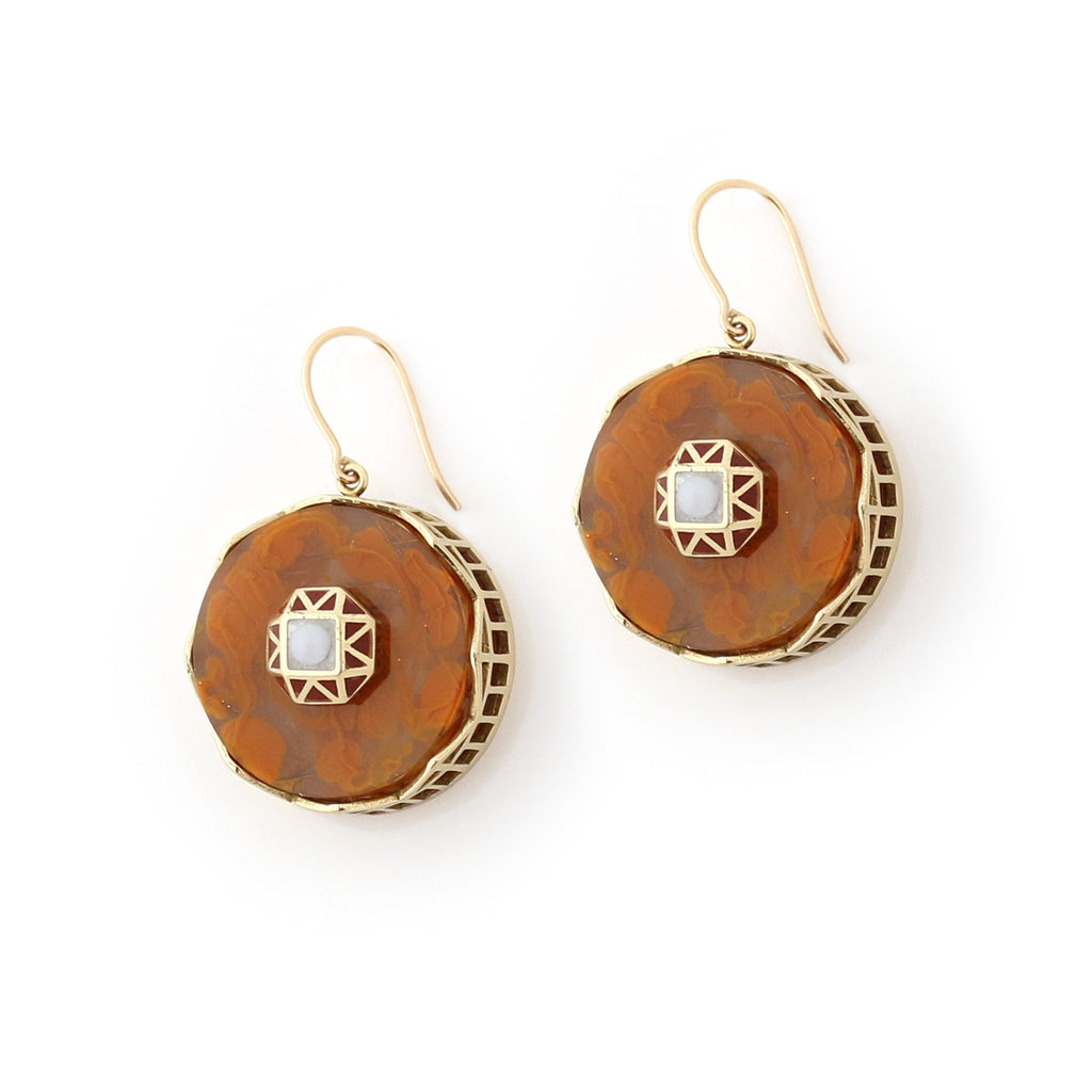 Studio Elke - Tempest Earrings - Rust
