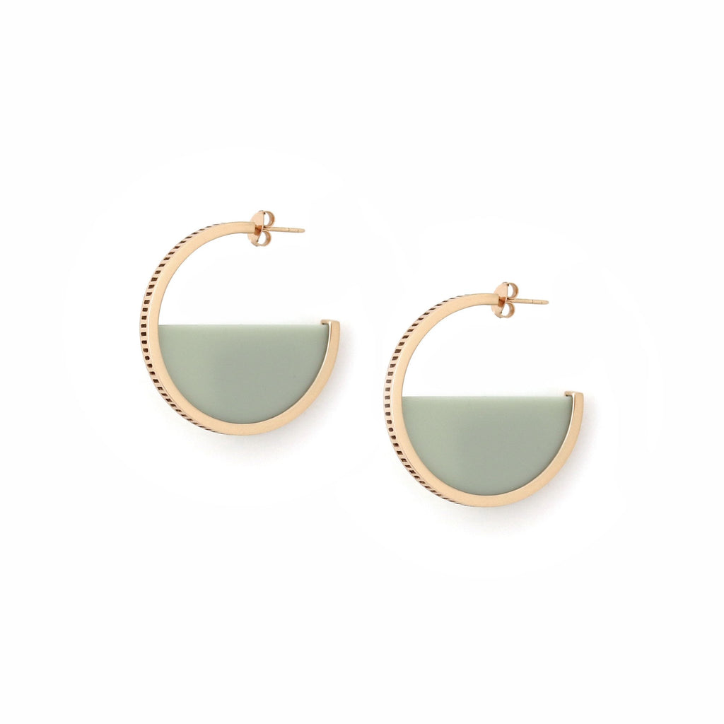 Studio Elke - Zenith Hoop Earrings - Sea Mist