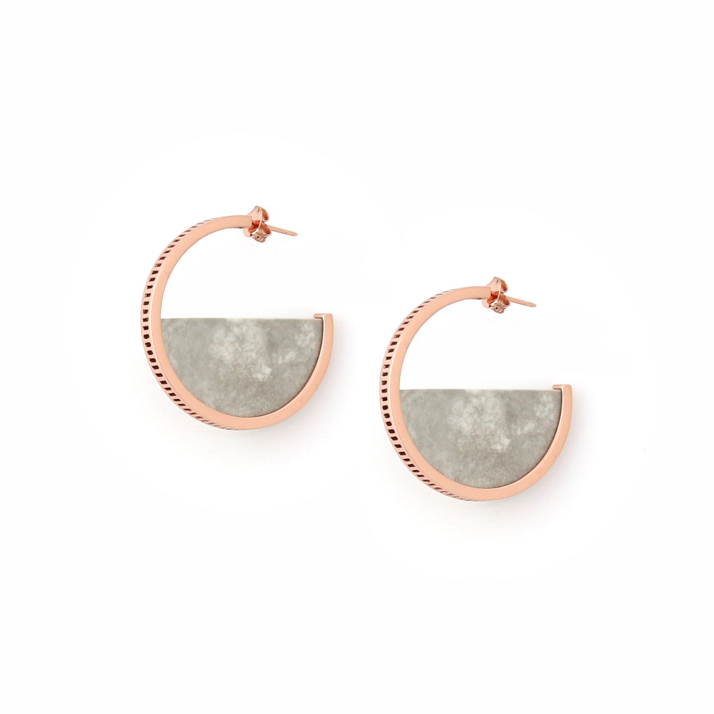 Studio Elke - Zenith Hoop Earrings - Stone Marle