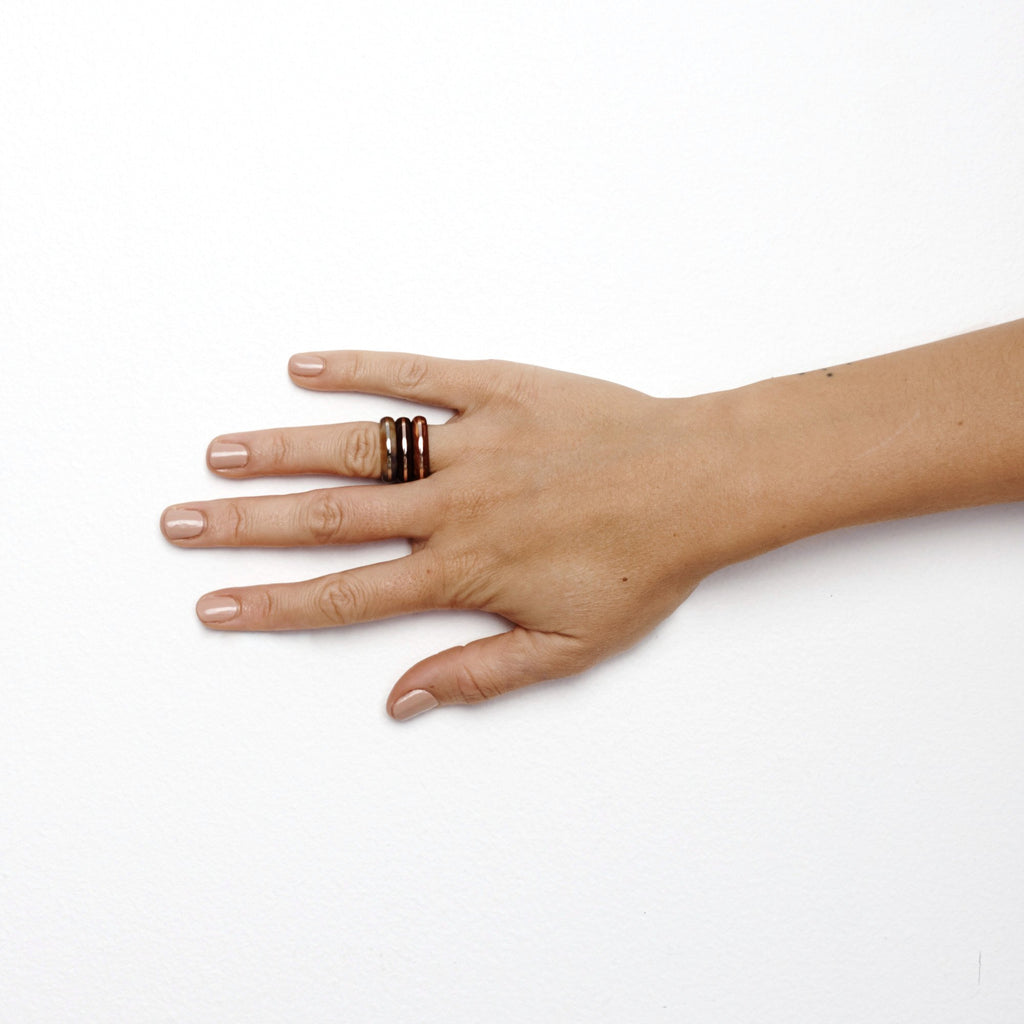Studio Elke - Orbit Ring Stack - Crayfish
