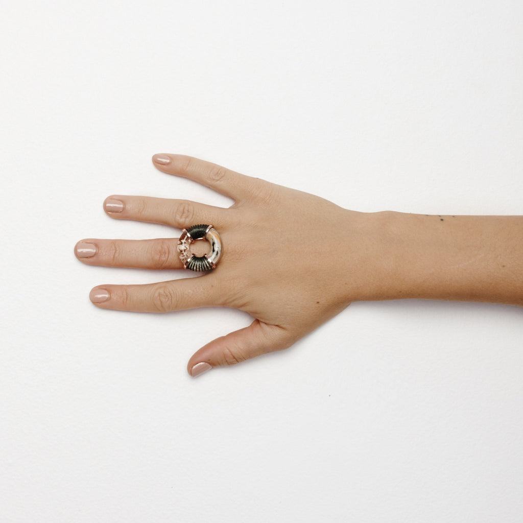 Studio Elke - Surge Ring - Lime Stone