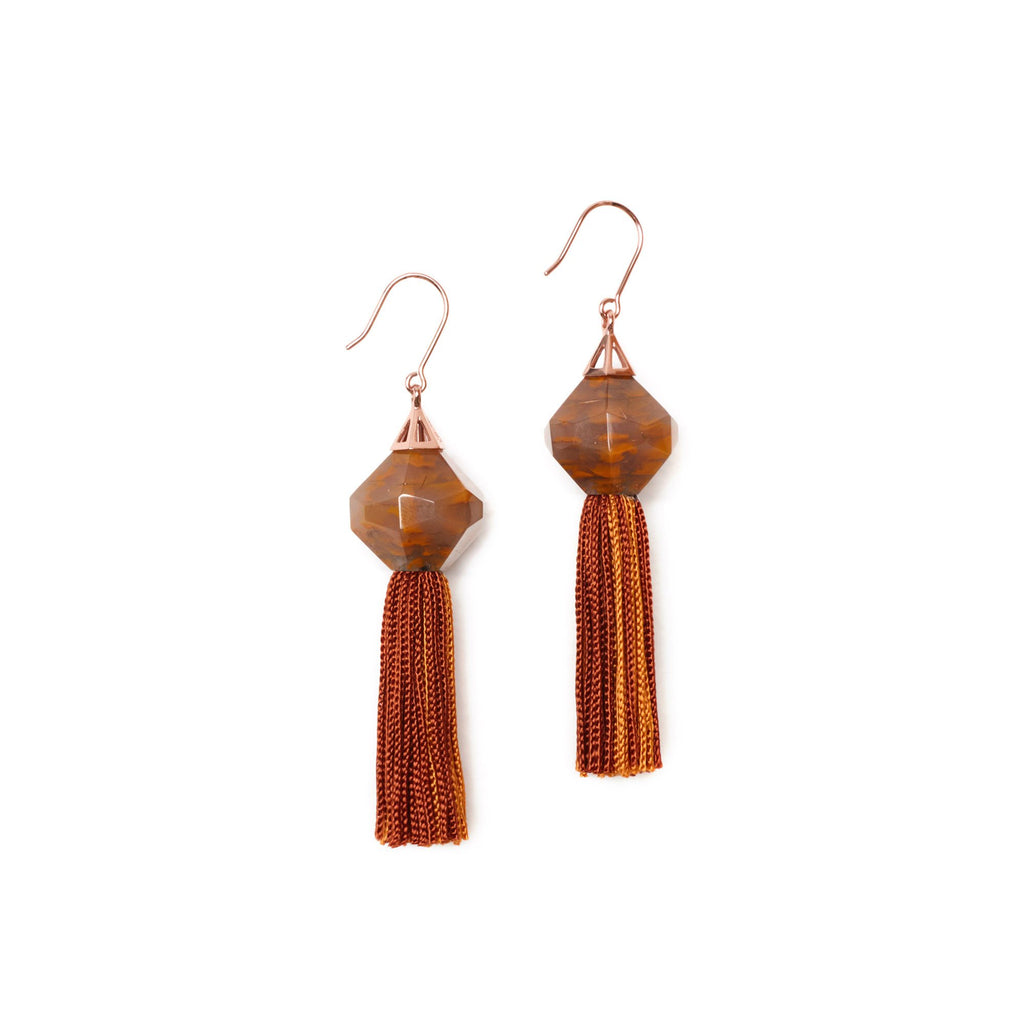 Studio Elke - Mythical Tassel Earring - Rust