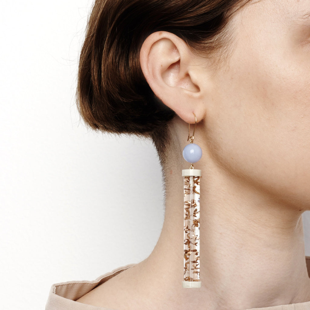 Studio Elke - Tangible Earrings - Rutilated Quartz